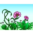 Abstract plants and flowers vector image