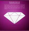 diamond sign icon isolated jewelry symbol vector image