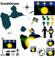 Guadeloupe map vector image