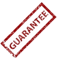Guarantee grunge rubber stamp vector image