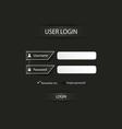 Login web dark screen template vector image