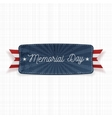 Memorial Day national Banner with Text vector image