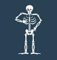 skeleton thumbs up emoji skull winks emotion vector image