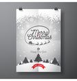 Merry Christmas design and snowflakes vector image vector image