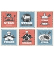 Vintage Steak House Poster Set vector image