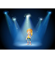 A girl under the spotlights vector image vector image
