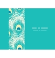 Peacock feathers frame horizontal seamless pattern vector image vector image