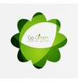 Green eco unusual background concept - flowers vector image vector image