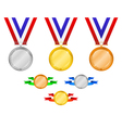medals set 3 vector image vector image