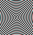 3d effect hypnosis spiral vector image vector image
