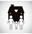 Family design relationship and home concept vector image