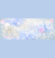 blue snow banner vector image