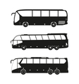 Bus black silhouettes on a white background vector image