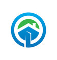 circle home building logo image vector image