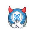 Devil gxshares coin mascot cartoon vector image