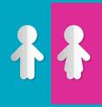 man and woman paper symbols vector image