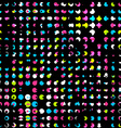 neon dots seamless pattern vector image