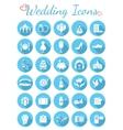Round Flat Wedding Icons vector image