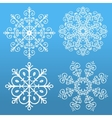 Set of 4 snowflakes vector image