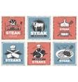 Vintage Steak House Poster Set vector image
