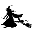 witchs cat vector image