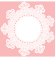 round crochet doily vector image vector image