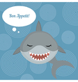 Shark says bon appetit vector image