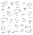 Christmas of doodles collection hand draw vector image