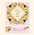 set of cards with daffodil floral motifs vector image