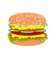 double burger vector image