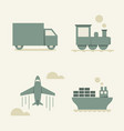 Cargo transportation vector image
