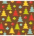 pattern tree dark vector image