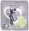 Golf Swing vector image vector image