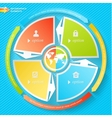Business Infographics four stages with icons can vector image