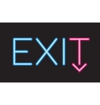 Exit neon sign vector image