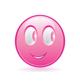 pink smiley vector image vector image
