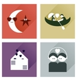 Set of flat icons with long shadow love vector image