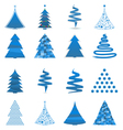 abstract christmas trees vector image