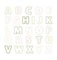 Alphabet thin line vector image