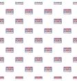 Audio cassette pattern cartoon style vector image