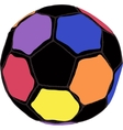 Color futboll ball vector image