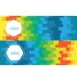 Horizontal polygonal banners vector image
