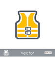 life jacket outline icon summer vacation vector image