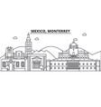 mexico monterrey architecture line skyline vector image