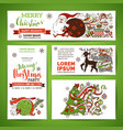set of corporate christmas templates vector image