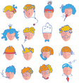 Set of people icons of different occupations vector image