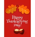 Thanksgiving Day greeting card invitation banner vector image