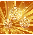xmas paper ball vector image
