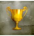 Gold trophy old-style vector image vector image