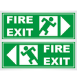 Fire Exit 01 vector image